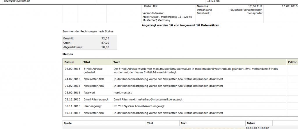Mailmaster: Antwortfenster Teil 2 (YES-System)