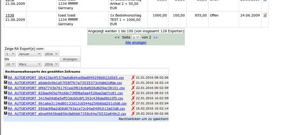 Mahnwesen: Rechtsanwalts Export Teil 2 (YES-System)
