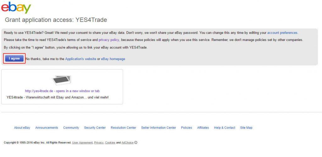 Ebay User Seller im System registrieren: token3