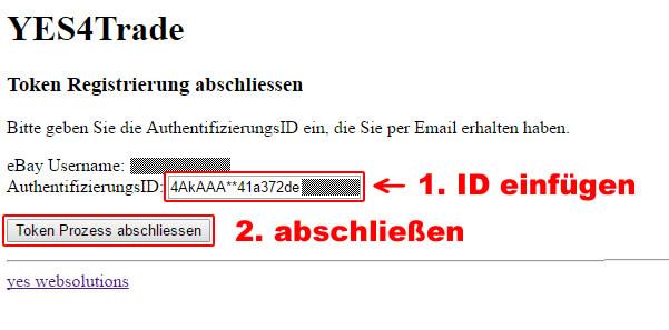 Ebay Token verlängern: Token6