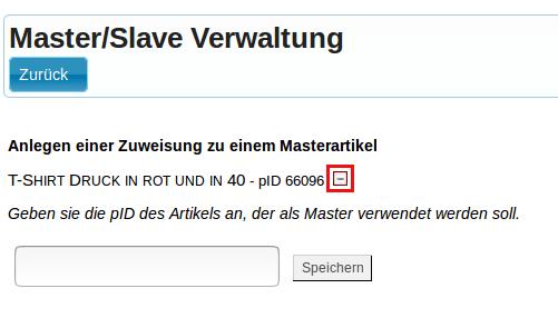 Master-Slave-Produkte: Master/Slave Verwaltung, Zuweisung ein/ausschalten (YES-System)