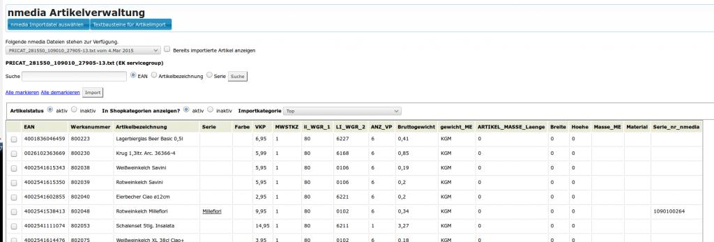 nmedia B2B Schnittstelle schon integriert: Übersicht (YES-System)
