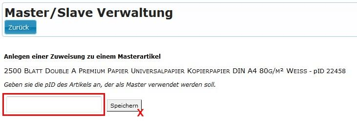 MasterSlave Verwaltung: 5-artikel-varianten