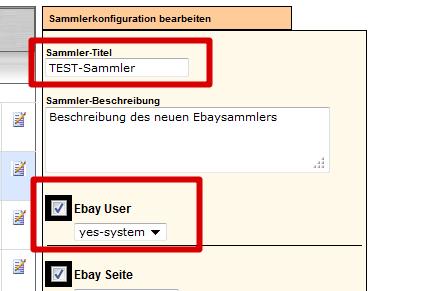 Massenbearbeitung von Sammlerprodukten: Sammlerzuordnung neuer Ebayuser (YES-System)