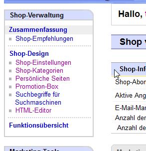 Kurzanleitung Buchhandel: Shopverwaltung