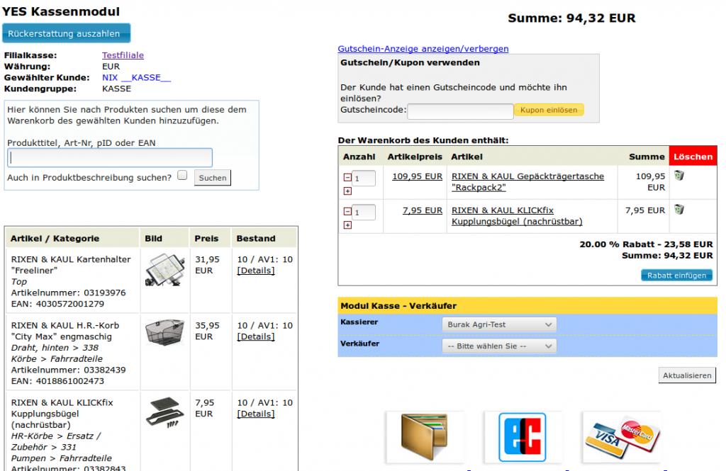 Auftragskasse Scannerkasse: Kassenmodul Scannerkasse