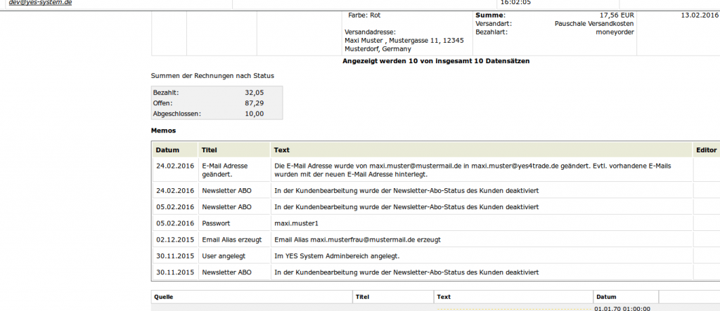 Mailmaster: Antwortfenster Teil 2 (YES-System)