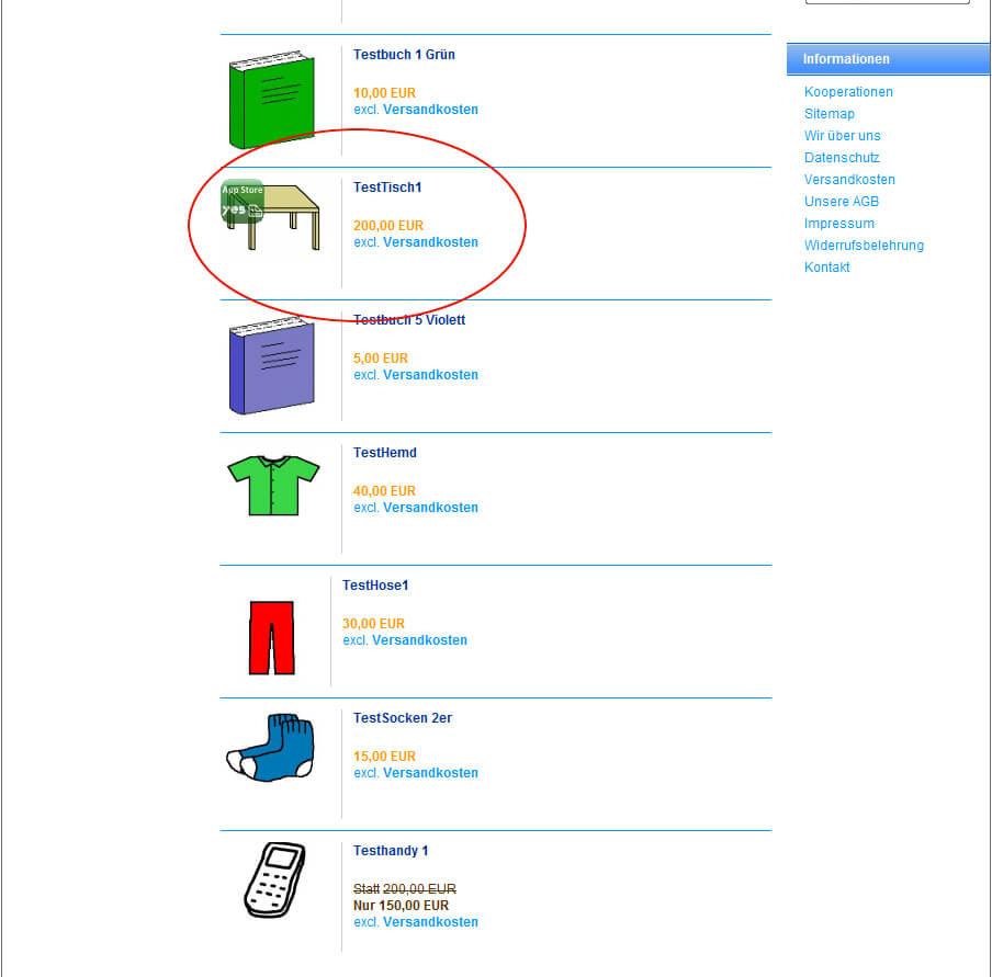 Wasserzeichen Logo in Produktbilder: Bildanzeige