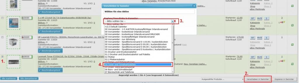 Sammlerartikel: Konfiguration-Sammler-Produkt 4 (YES-System)