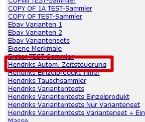 Automatische Zeitsteuerung: Sammler mit Automatikzeitsteuerung (YES-System)