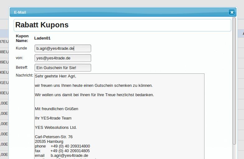 Kupons Gutscheine: Gutschein-Mail