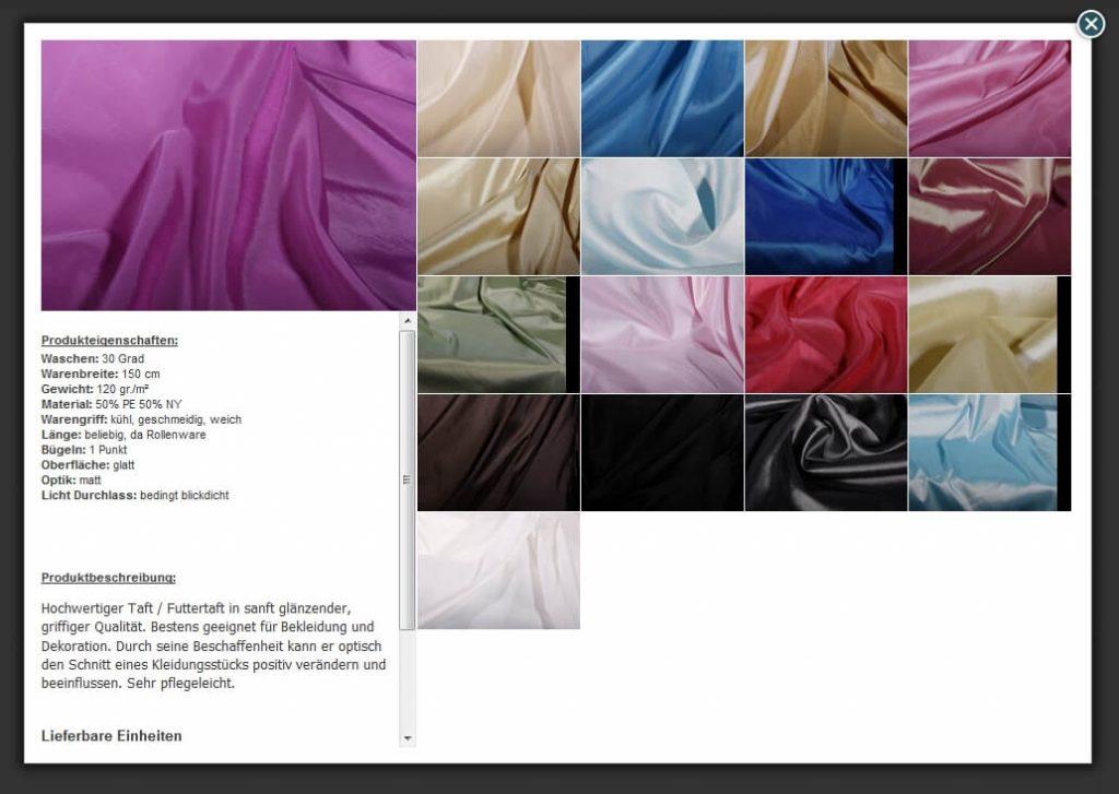 Master-Slave-Produkte: Multivarianten Praxisbeispiel 2 Variantenübersicht Stoffhandel (YES-System)