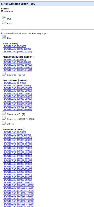 Newsletter Emailadressenexport: Email-Adressen-Export2