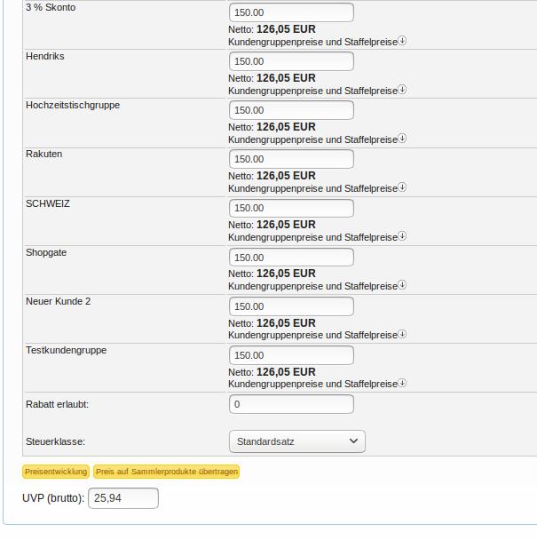 Artikelpreise: Preisvarianten eines Artikels Teil 2 (YES-System)