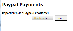 Zahlungseingang PayPal