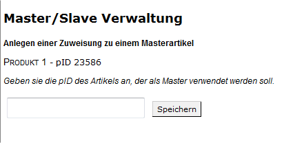 Master-Slave-Produkte: Master/Slave Verwaltung (YES-System)